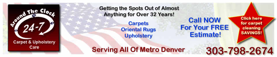 Around The Clock Carpet & Upholstery Care Denver header